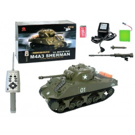 Czołg rc Sherman M4A3 W skali 1:30