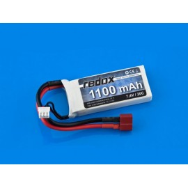 Pakiet LiPo 1100 mAh 7,4V 20C Redox
