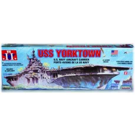 Plastikowy Model Do Sklejania Lotniskowiec USS Yorktown Lindberg (USA)