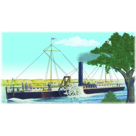 Plastikowy Model Statku Fulton Clermont Paddle Wheel Steamship Lindberg