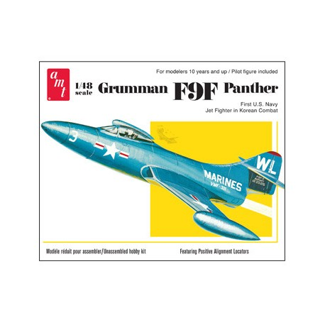 Model Samolotu Odrzutowiec Grumman F9F Panther Jet AMT (USA)