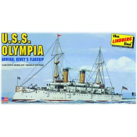 Model USS Olympia Battleship Do Sklejania Lindberg