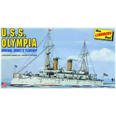 Model USS Olympia Battleship Do Sklejania Lindberg