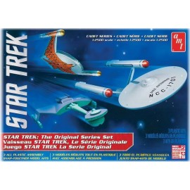 Model Do Sklejania Star Trek Cadet Series TOS Era Ship 3w1 AMT