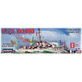 Plastikowy Model Niszczyciel eskortowy USS Delong Destroyer Escort Lindberg