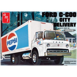 Model Do Sklejania Ford C600 PEPSI Delivery Truck AMT