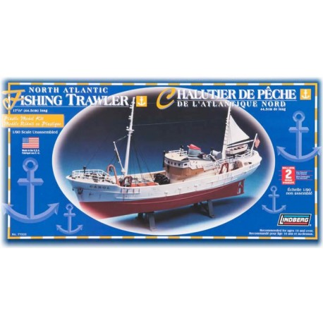 Model plastikowy Łódź North Atlantic Fishing Trawler Lindberg