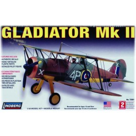 Plastikowy Model Samolot Gloster Gladiator Lindberg