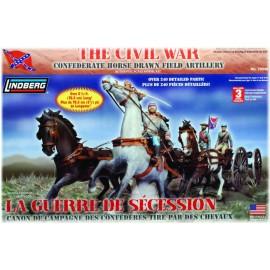 Plastikowy Model Wojny Secesyjnej - Zaprzęg Artyleryjski Konfederatów Lindberg