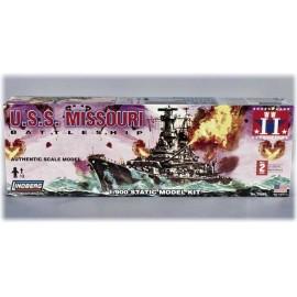 Plastikowy Model Okręt wojenny USS Missouri Lindberg