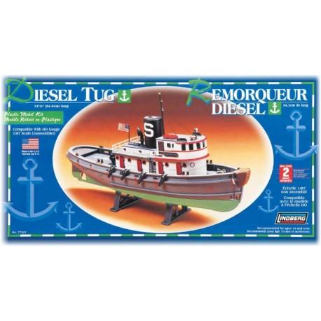 Plastikowy Model Łódź Diesel Tug Boat Lindberg