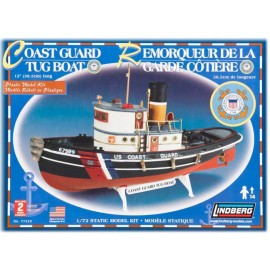 Plastikowy Model Łódź Coast Guard Tug Boat Lindberg