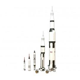 """Modele Do Sklejania Zestaw 5 rakiet kosmicznych """"Man in Space Rocker Set"""" AMT"""