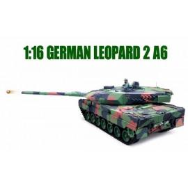 Zdalnie Sterowny Czołg Leopard 2A6 Metal Stal 1:16