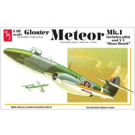 Samolot Plastikowy Odrzutowiec Gloster Metor MK-1 Fighter Jet AMT