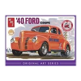 Model Do Sklejania 1940 Ford Coupe Original Art AMT