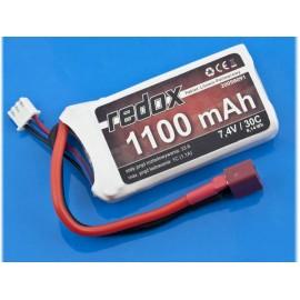 Pakiet Zasilający LiPo 7,4V 1100mAh 30c Redox