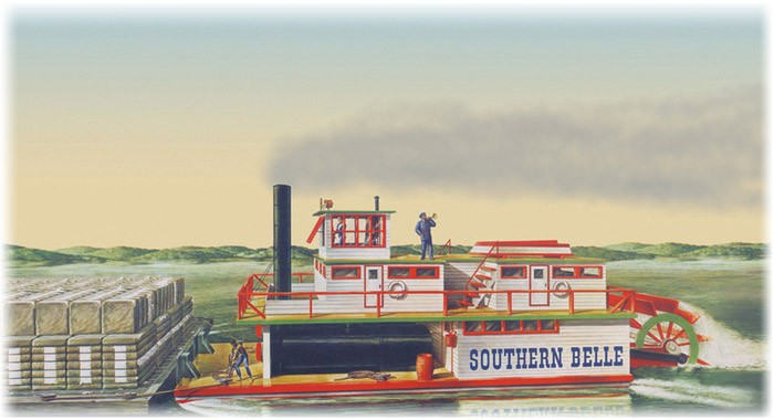 Southern Bell Paddle Wheel Steamship